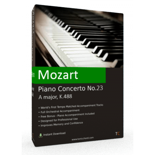 MOZART - Piano Concerto No.23 in A major, K.488 Accompaniment