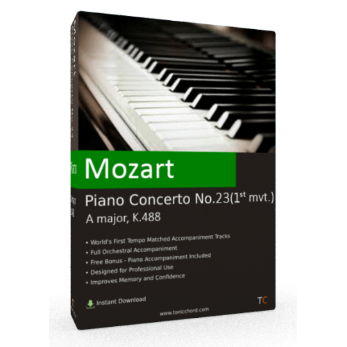 MOZART - Piano Concerto No.23 in A major, K.488 1st mvt. Accompaniment