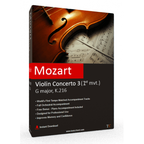 MOZART - Violin Concerto No.3 in G major, K.216 1st mvt. Accompaniment