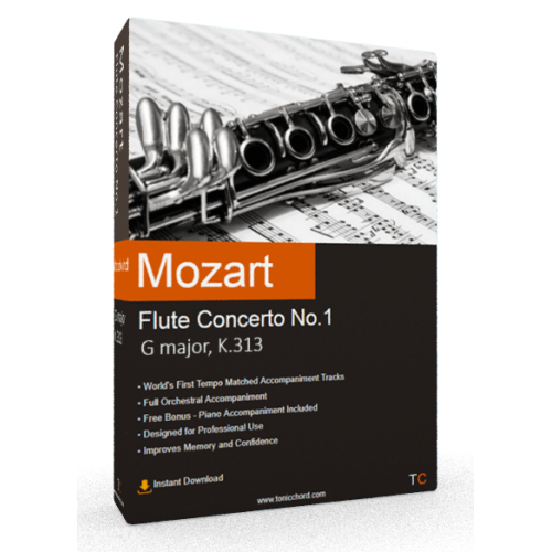 MOZART - Flute Concerto No.1 in G major, K.313 Accompaniment