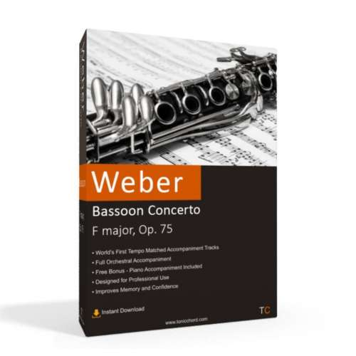 WEBER - Bassoon Concerto Accompaniment