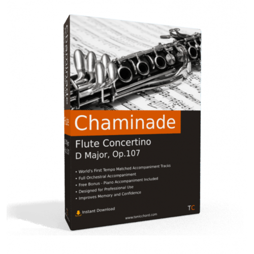 CHAMINADE - Flute Concertino in D major Op.107 Accompaniment