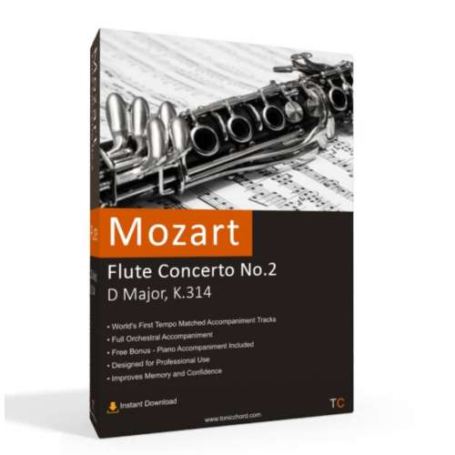 MOZART - Flute Concerto No.2 in D major, K.314 Accompaniment