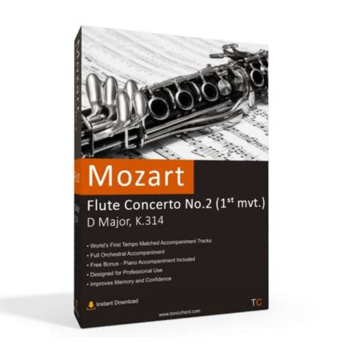 MOZART - Flute Concerto No.2 in D major, K.314 1st mvt. Accompaniment