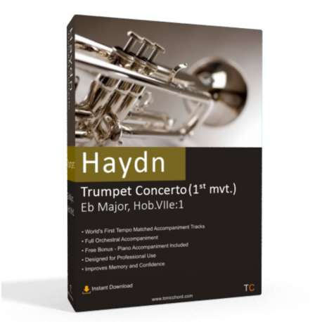 Haydn - Trumpet Concerto in Eb Major 1st mvt. Accompaniment