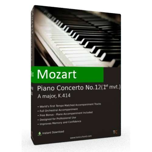 MOZART - Piano Concerto No.12 in A major, K.414 1st mvt. Accompaniment