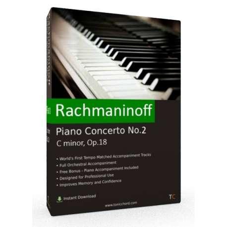 RACHMANINOFF Piano Concerto 2 Full Accompaniment (Van Cliburn)