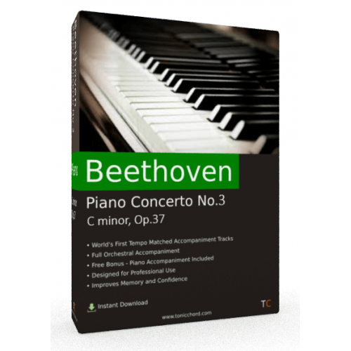 BEETHOVEN Piano Concerto 3 (Full) Accompaniment